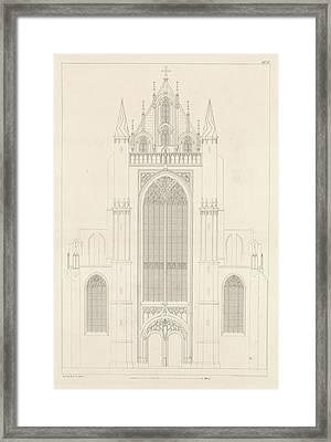North Portal Of The Highland Church In Leiden Framed Print by Artokoloro
