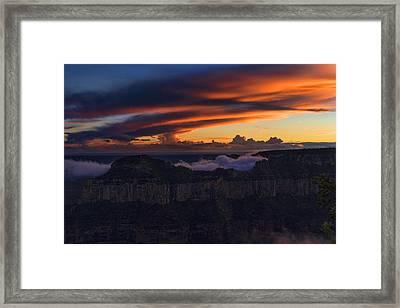 North Rim Dusk Framed Print