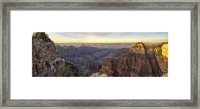North Rim Sunrise Panorama 2 - Grand Canyon National Park - Arizona Framed Print
