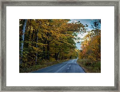 North Road Bethel Maine Framed Print by Chandler McGrew