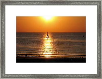 North Sea Sunset Framed Print