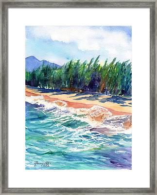 North Shore Beach 2 Framed Print by Marionette Taboniar
