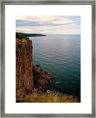 North Shore Cliff Framed Print by Bridget Johnson