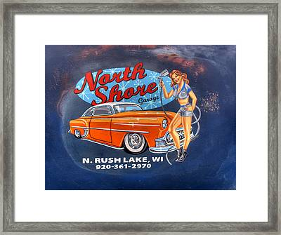 North Shore Garage Framed Print by Thomas Young