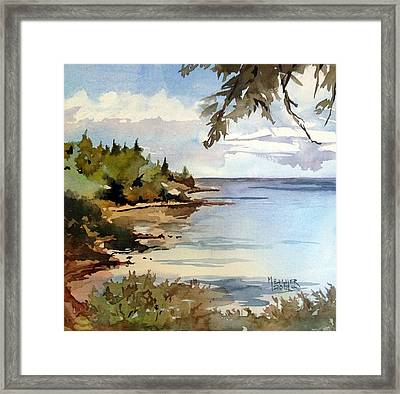 North Shore Lake Superior Framed Print by Spencer Meagher