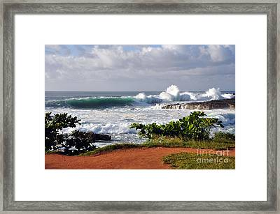 North Shore Oahu Framed Print by Gina Savage