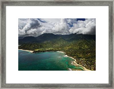 North Shore Of Kauai Framed Print by Vicki Jauron