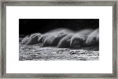 North Shore Spindrift Framed Print