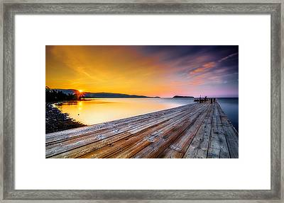 Framed Print featuring the photograph North Shore Sunrise Grand Portage Mn by RC Pics