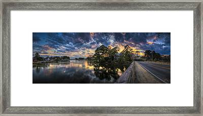 North Shore Sunset Framed Print