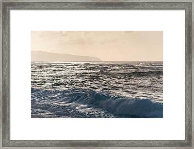 North Shore Waves Framed Print