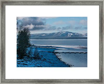 North Shore Winter Blues Framed Print