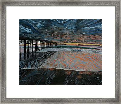 North Side Of The Ventura Pier Framed Print