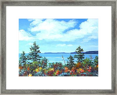 North Sky Sketch Framed Print by Richard De Wolfe