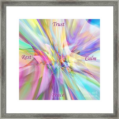 North South East West Framed Print
