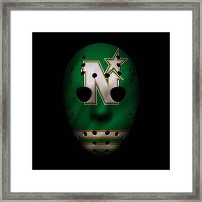 North Stars Jersey Mask Framed Print