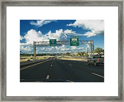 North To Weird Framed Print by Wendy J St Christopher