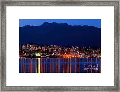 North Vancouver At Dusk Framed Print by Terry Elniski