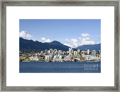 North Vancouver Lonsdale Skyline Framed Print by Charline Xia