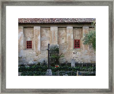 North Wall Of The Carmel Mission Framed Print