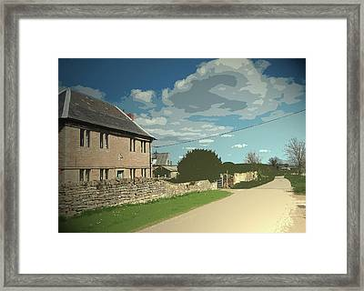 North Walls Lane And Farm, This Is A Very Old Dwelling Framed Print by Litz Collection
