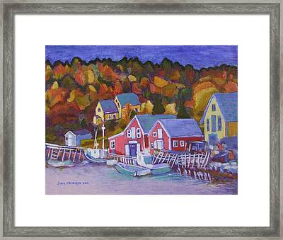 North-west Cove Framed Print by Janet Ashworth