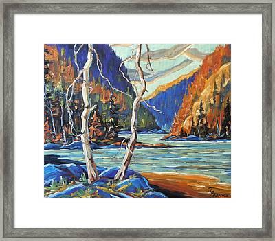 North West Lake By Prankearts Framed Print
