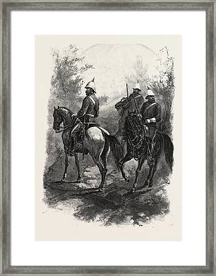 North-west Mounted Police, Canada Framed Print by Canadian School