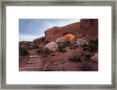 North Window Arch Framed Print by Jay Stockhaus