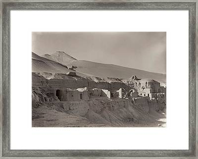 North Wing Seen From Bez Framed Print by British Library