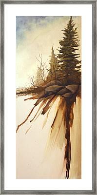 North Woods Pines Framed Print by Rick Huotari