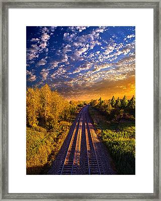 Northbound Framed Print by Phil Koch