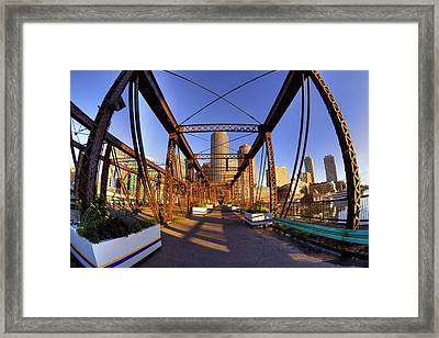 Northern Avenue Bridge Framed Print by Joann Vitali