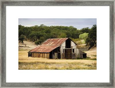 Northern California Barn Framed Print