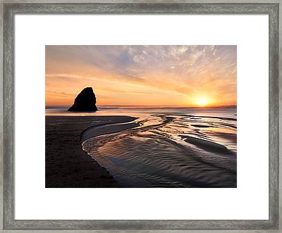 Northern California Coast Sunset Framed Print by Leland D Howard