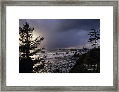 Northern California Coastline Framed Print by Jim Corwin