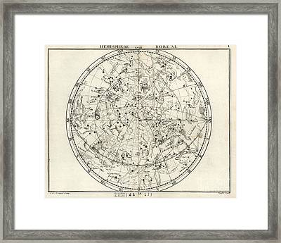 Northern Constellations, 18th Century Framed Print by United States Naval Observatory