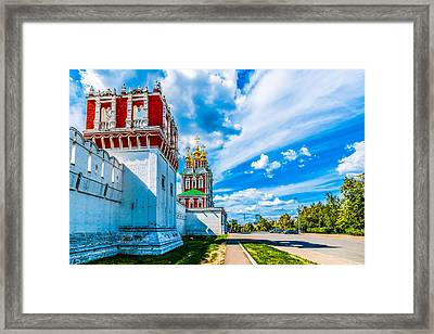 Northern Entrance To Novodevichy Convent Framed Print by Alexander Senin