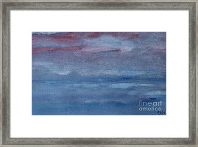 Northern Evening Framed Print by Susan  Dimitrakopoulos
