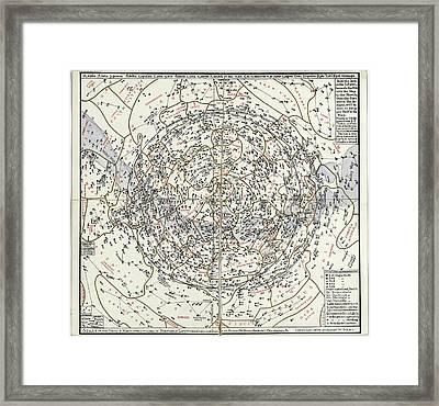 Northern Hemisphere Star Chart Framed Print