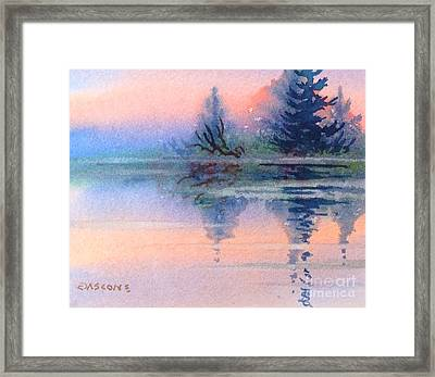 Northern Isle Framed Print by Teresa Ascone