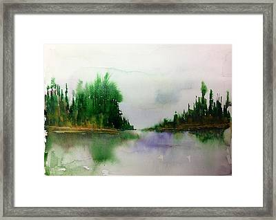 Northern Lake - Mellow Day Framed Print