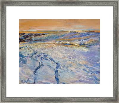 Tire Tracks Framed Print by Helen Campbell