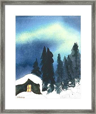 Northern Lights 2 Framed Print by Charlotte Hickcox