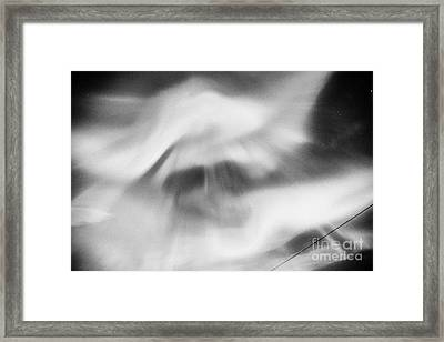 Northern Lights Aurora Borealis Strong Corona Showing A Face Near Tromso In Northern Norway Europe Framed Print