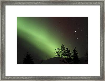 Northern Lights Disappear Framed Print by Dave Brosha