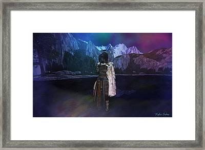Northern Lights Framed Print by Kylie Sabra