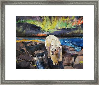 Northern Lights Framed Print by Michael Creese