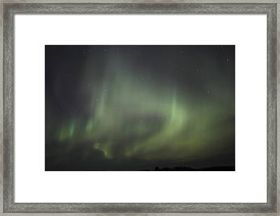 Framed Print featuring the photograph Northern Lights Over Wroxton by Ryan Crouse