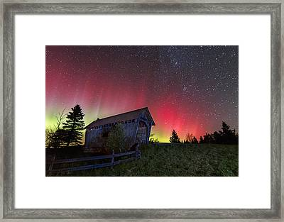 Northern Lights - Painted Sky Framed Print by John Vose